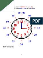 orientarea in timp - ceasul