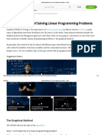 Graphical Method for Linear Programming Problems
