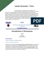 Machine Kinematics Dynamics