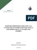 Rapport périodique relatif à la convention internationale sur la discrimination à l'égard des femmes - 2005