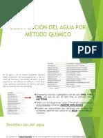 Desinfección del agua por método quimico