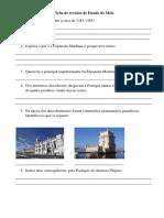 Ficha de revisões de Estudo do Meio