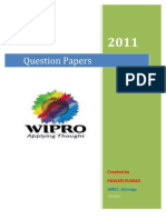 wipro question paper