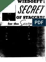 Wiedoeft - Secret of Staccatto
