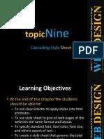 Chap9 Cascading Style Sheet
