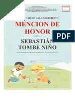mencion de honor editable