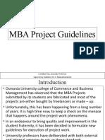 MBA Dissertaton Guidelines