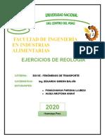 EJERCICIOS DE REOLOGIA