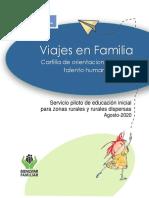Cartilla Viajes en Familia. Orientaciones para el Talento Humano