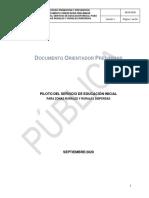 Documento orientador preliminar Servicio de Educación Inicial en zonas rurales y rurales dispersas ajuste V2 Sept VF
