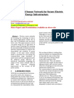 Application of Sensor Network for Secure Electric Energy Infrastructure