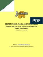 Decret 2005-728 du 8 novembre 2005 Comite d'entreprise