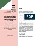 MACKENZIE - TEXTO 10 - DESTITUIÇÃO DO PODER FAMILIAR COMO CONSEQUÊNCIA DA VIOLÊNCIA DOMÉSTICA - 11.11.2020