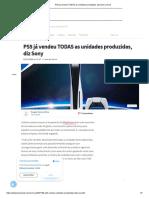 PS5 já vendeu TODAS as unidades produzidas, diz Sony _ Voxel