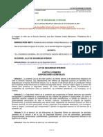 LEY DE SEGURIDAD INTERIOR Nueva Ley publicada en el Diario Oficial de la Federación el 21 de diciembre de 2017