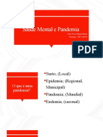 Saúde Mental e Pandemia