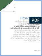 SF, Protocolo de acción a seguir ante hechos de violencia sexual PUC