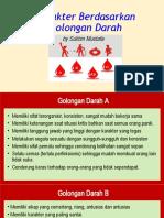 Kepribadian Golongan Darah