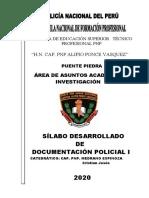SILABO DOCUMENTACION I -2020
