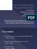 Cross Border Cooperation Policy Fields in Economic Issues (Case Studies)