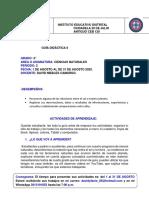 GUIA DE CIENCIA NATURALES # 6 AGOSTO- DAVID