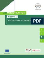 AD. Module 3. Rédact. Admin