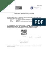 Constancia de registro GYA