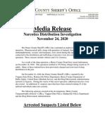 Henry County Drug Operation November 2020 Media Release