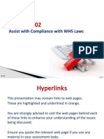 PPT BSBWHS402 - Assist with compliance with WHS laws - V3 Feb  2017
