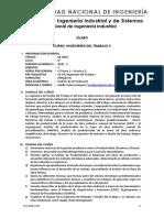 Sílabo - GE603V Ingeniería del Trabajo II - Valencia Napán Adolfo