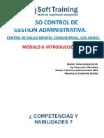 Modulo Introducción Control de procesos Administrativos Centro Salud Mental Los Andes