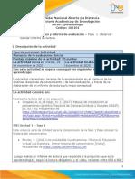 Guia de actividades y Rúbrica de evaluación - fase1 - observar