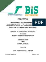Importancia de La Contabilidad Administrativa en La Planeacion de Pymes, Derivado de La Pandemia (Covid-19)
