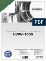 Manual HSK HWW-1000