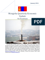Mongolia Quarterly Economic Update