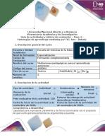 Guía de actividades y rúbrica de evaluación - Paso 4 - Estrategia de aprendizaje mediados por TIC (1)