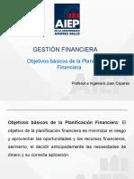 Cuarto Clases. gestion financiera Objetivos básicos de la Planificación Financiera