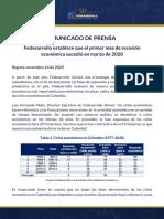 2020-11-24 Comunicado de Prensa, Ciclos Económicos y Recesión 2020