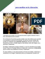 15 citas bíblicas para meditar en la Adoración Eucarística