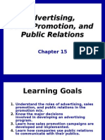 adv, sales promotion, public relstion chapter 15