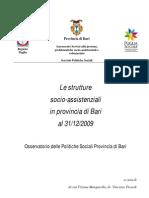 Strutture Socio-Assistenziali Prov BA 31-12-09