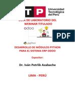 GUIA DE IMPLEMENTACION EL ENTORNO DE  DESARROLLO  ODOO VERSION  13_UNFV