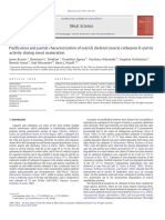 Purification and partial characterization of ostrich skeletal muscle cathepsin D and its