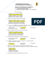 RESPUESTAS DIAGNOSTICO PSICOPATOLOGIA GENERAL