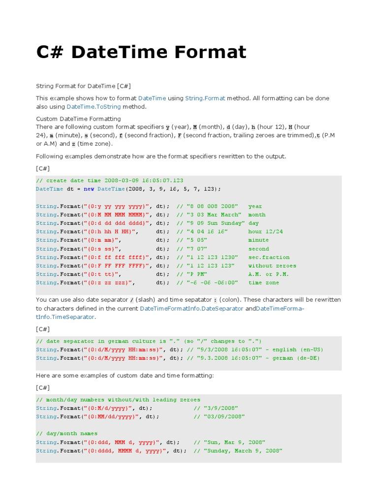 C datetime format c sharp programming language command line c datetime format c sharp programming language command line interface publicscrutiny Gallery