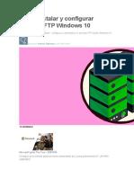 Cómo instalar y configurar servidor FTP Windows 10