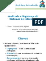 Auditoria e Segurança de Sistemas de Informação - Aula 04 - Chaves e Certificados Digitais (1)