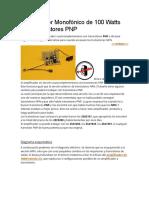 Amplificador Monofónico de 100 Watts con Transistores PNP.docx