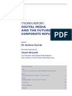ItsOpen Report - Digital Media and the Future of Corporate Reputation