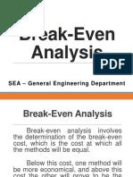 Lesson 11 - Break-Even Analysis